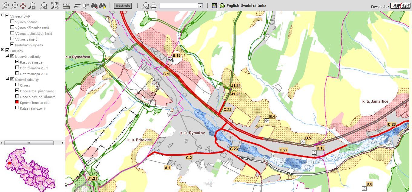 Mapová aplikace UAP