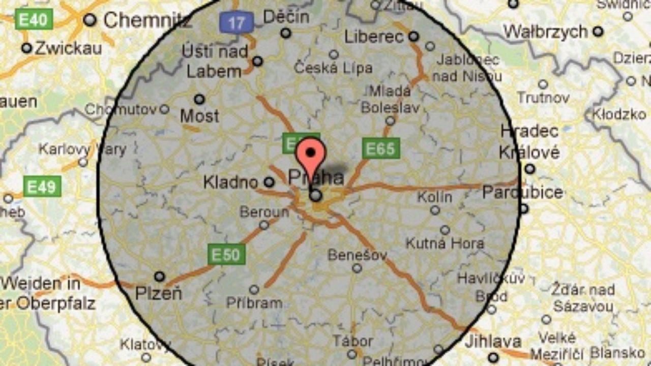 Jak Udelat Kruhovou Vzdalenost Na Google Mapach Gisportal Cz