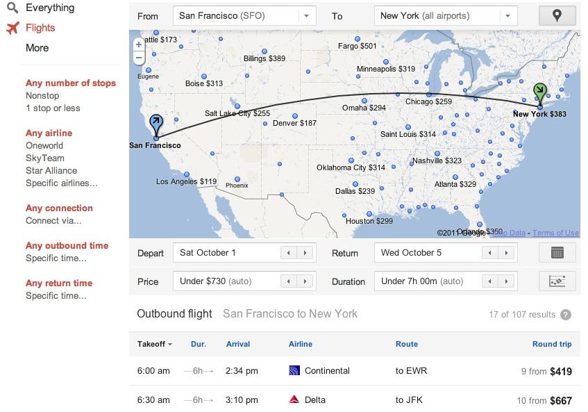 google flights aneb l t me s google zat m jen v usa. Black Bedroom Furniture Sets. Home Design Ideas