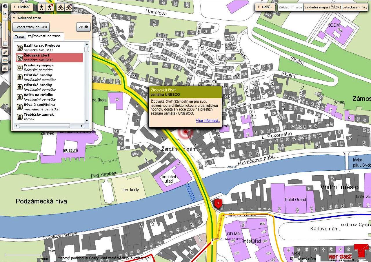 Novy Turisticky Mapovy Portal Pro Mesto Trebic Tz Gisportal Cz