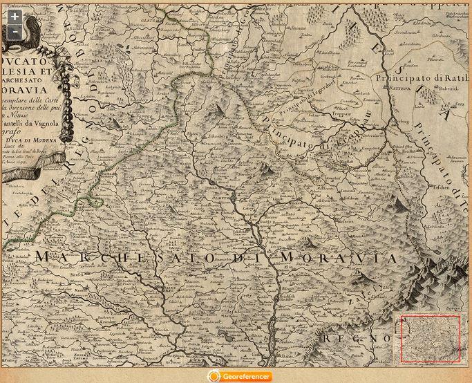 Jedna z mnoha historických map Mollovy sbírky, zdroj: mapy.mzk.cz