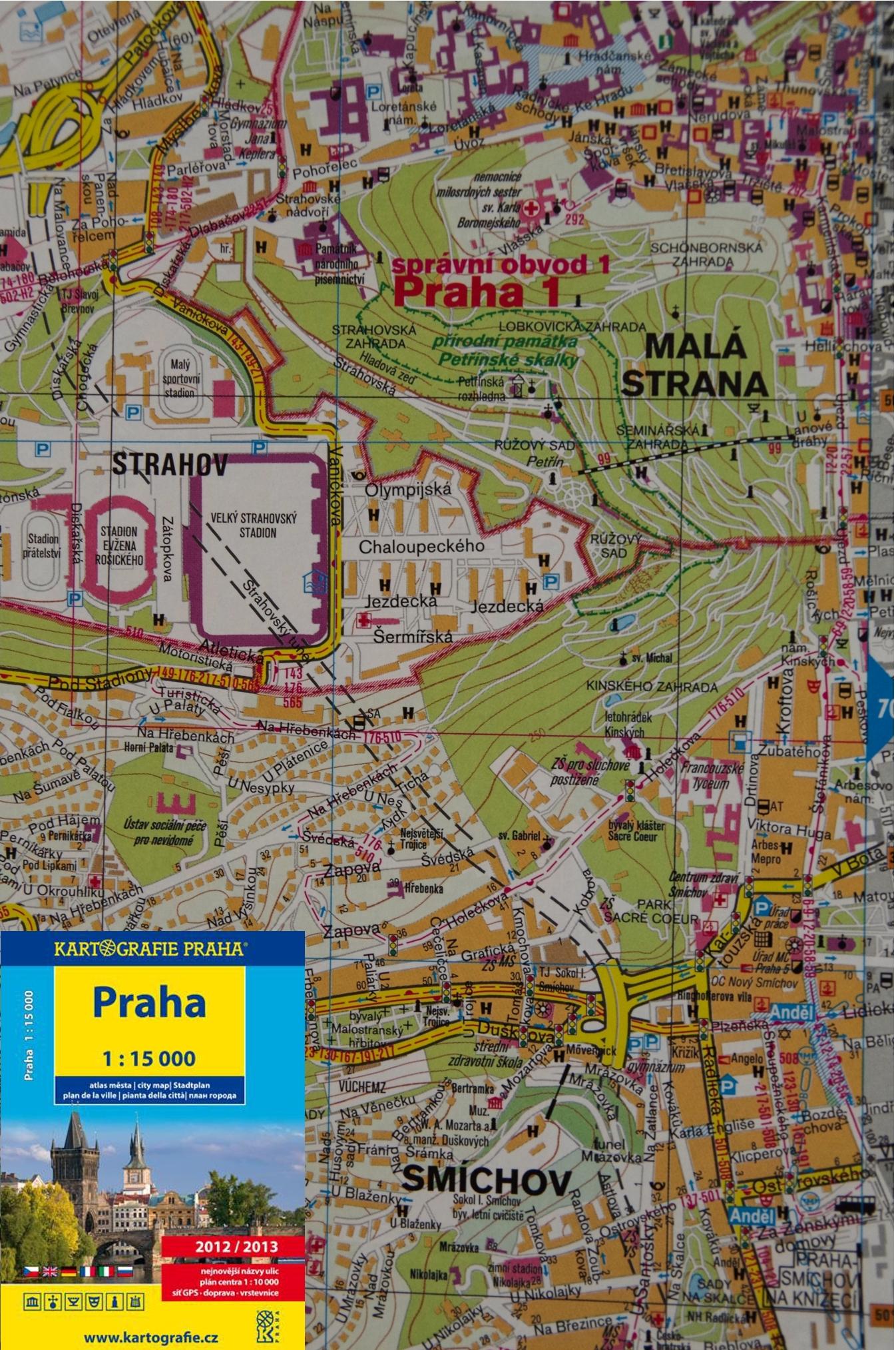 Praha ‒ Atlas města 1 : 15 000 – Kartografie PRAHA, a. s.